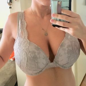 NWT victoria's secret lacy grey supportive bra